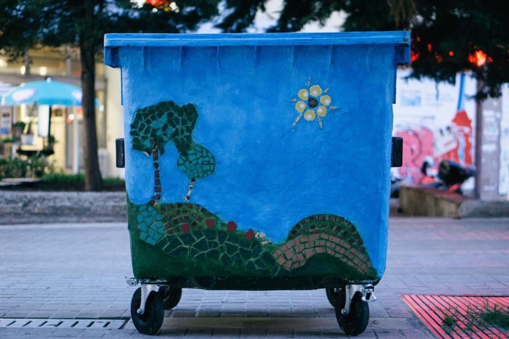 Παρεμβάσεις σε κάδους απορριμάτων στην Πλατεία Νίκης Κοζάνης στο πλαίσιο της δράσης Κοζάνη, όμορφη πόλη